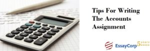 Accounting Assignments- EssayCorp