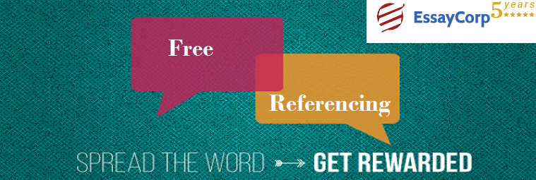 Free Referencing Provided By EssayCorp