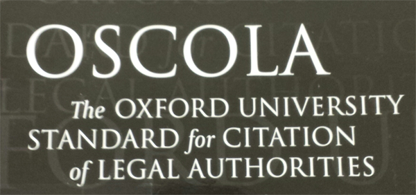 Aware Of OSCOLA Referencing Style?