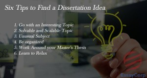Six Tips to Find a Dissertation Idea