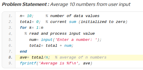 MATLAB Assignment Samples – Find The Average Value