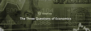 The Three Questions Of Economics- EssayCorp