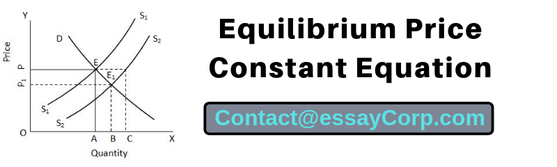 Equilibrium Price Constant Equation