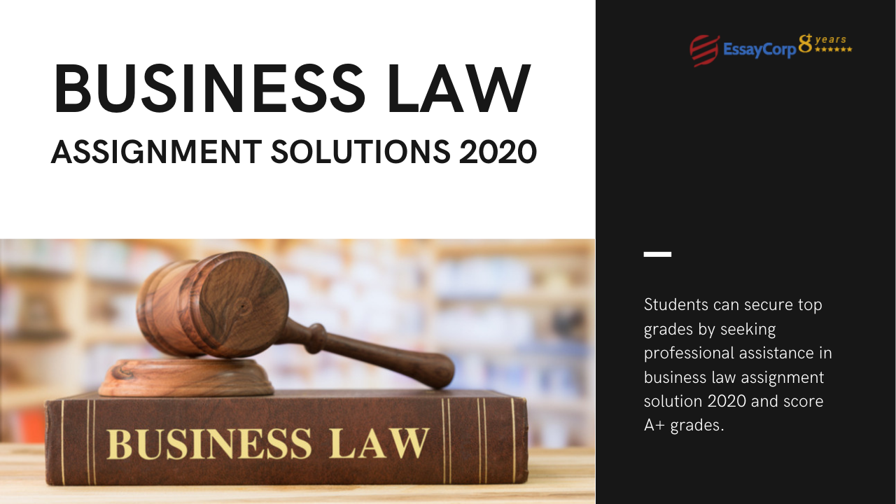 Top-Rated Business Law Assignment Solution 2021